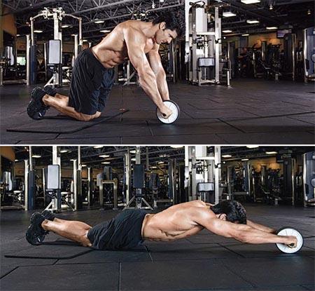 تقویت عضلات شکم با تمرین و تکنیک غلتک شکم