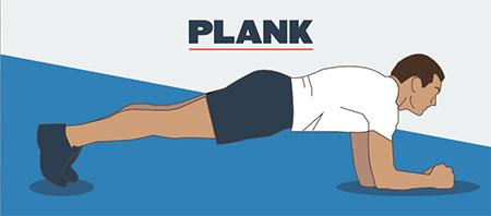 انجام تکنیک نگه داشتن استاتیک یاPlanks موثر در تقویت عضلات شکمی