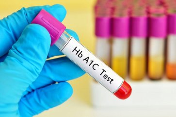 What is a blood test for controlling diabetes, or the A1C test?